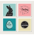 Happy Easter - set of stylish cards or invitations vector image vector image