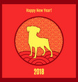 happy new year 2018 poster on vector image