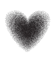 Heart drawn with stipple brush and polka-dots vector image vector image