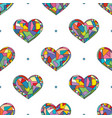hearts hand drawn seamless pattern valentines vector image vector image