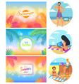hello summer party 2017 set vector image vector image