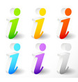 information info icon with letter i with italic vector image
