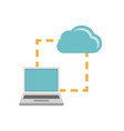 laptop synchonization cloud icon vector image vector image