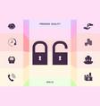 lock unlock - set icon graphic elements fo vector image