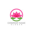 lotus flower sign for wellness spa and yoga vector image vector image