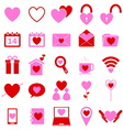Love color icons on white background vector image vector image