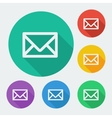 Mail icon simple envelope Flat design vector image
