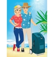 man and woman on the beach Summer Sea Vacation vector image vector image