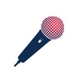 microphone logo with hot head on white background vector image