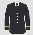 Military uniform vector image vector image