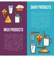 Milk products vertical flyers set vector image vector image