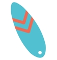 Modern colorful surfboard vector image vector image