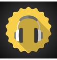 Music Headphones Earphones Flat Icon vector image vector image