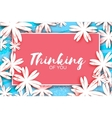 Paper cut flower greeting card Rectangle frame vector image vector image