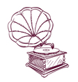 phonograph hand drawn vector image