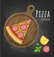 Pizza pepperoni slice vector image vector image