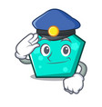 police pentagon character cartoon style vector image