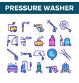 pressure washer tool collection icons set vector image vector image