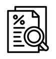 procent paper icon outline style vector image