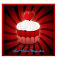 red velvet cupcake vector image