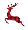 reindeer plaid vector image vector image