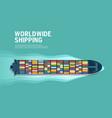 sea freight maritime shipping merchant marine vector image