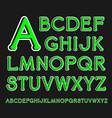 Serif font with rounded corners and contour vector image