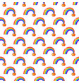 simple rainbow and money pot background seamless vector image
