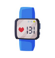 smartwatch with heart rate healthcare app vector image vector image