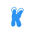 snow letter logo k vector image vector image