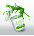 splash green paint realistic 3d image vector image vector image