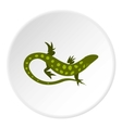 Spotted lizard icon flat style vector image