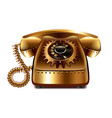 Steampunk retro phone isolated vector image