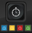 Stopwatch icon symbol Set of five colorful stylish vector image vector image