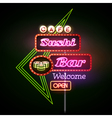 Sushi bar neon sign vector image vector image