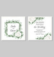 template for wedding invitation white rose flowers vector image vector image