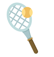tennis racket with balls vector image