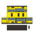 the simple paper model of a yellow bus vector image
