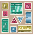 Vintage Stamp Stickers vector image vector image