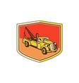 Vintage Tow Truck Wrecker Shield Retro vector image vector image