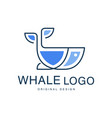 whale logo original design creative emblem can be vector image vector image