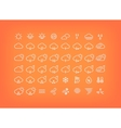 White weather icons set Thin line symbols vector image