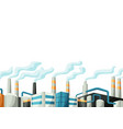 with factories or industrial vector image vector image