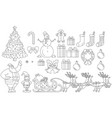 christmas graphics outline vector image
