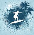 surfing grunge vector image