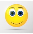 Cute smiling emoticon emoji smiley vector image