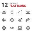 12 move icons vector image vector image