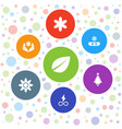 7 ornament icons vector image vector image