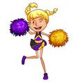 A cheerleader vector image vector image