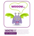 a monster saying wow vector image vector image